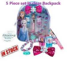Disney Frozen 2 Mini Make-Up Back Pack 5 Piece Set plus Clear Backpack. Gift