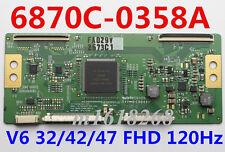 Original 6870C-0358A T-CON board  MODEL: V6 32/42/47 FHD 120Hz 6870C-0358A
