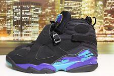new concept 058d2 42ec0 Air Jordan Retro 8 Aqua Black Purple 2007 Basketball Sneakers Size 10.5