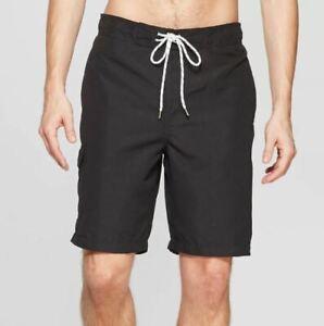 "Goodfellow & Co™ Men's 9"" Swim Trunks Black Size XL"