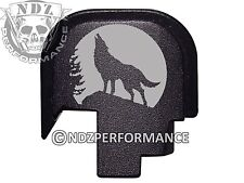 For Smith Wesson S&W SHIELD 9 40 Rear Slide Back plate BLK Wolf Moon