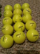 Lot of 15 yellow Titleist golf balls - used and in good condition - some ProV1