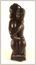 5 1/2 INCH BLACK IMAGE EROTIC / HUGGING / LOVERS CANDLE (Wicca, Magic)