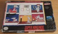 Family Dog (Super Nintendo Entertainment System, 1993)(Game and Box)