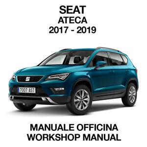 SEAT ATECA 2017 2019. Service Manuale Officina Riparazione Workshop Manual ENG