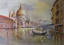 """CLIVE WALSH AUSTRALIAN WC """"GRAND CANAL VENICE"""" 1994"""