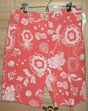 NWT NEW  Fresh Produce Pacific Floral Sheet Shorts M Light Burnt Red Print