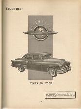 REVUE TECHNIQUE AUTOMOBILE 82 RTA 1953 ETUDE OLDSMOBILE 88 & 98