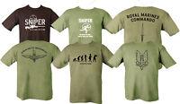 PARA SAS ROYAL MARINE T SHIRT COMBAT MILITARY ARMY SNIPER SPECIAL FORCES T-SHIRT