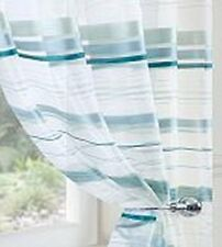 METROPOLE STRIPED VOILE PANELS -black, teal, beige, green, red -for lounge, di