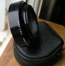 Asahi PENTAX lens hood for 50mm f1.4 m42  49mm screw in ( plastic) & case