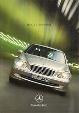 Mercedes-Benz C-Class Saloon 2000 UK Market Launch Sales Brochure
