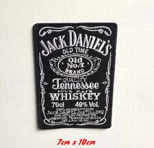 Jack Daniels Boisson Art Badge Grand Brodé Repasser Ou Patch à Coudre