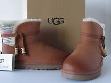 UGG Australia Women's Auburn Serape Chestnut Short Winter Boots, size 8 NEW