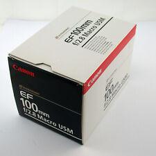 Canon EF eos USM macro 2,8/100 macro 100mm f2, 8 2,8 Boxed OVP completamente complete