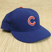 Chicago Cubs Fitted Hat Blue New Era 59Fifty Size 7 1/8 MLB Authentic Collection