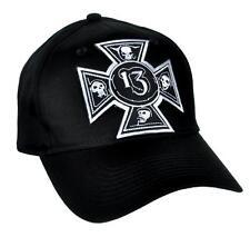 Number 13 Iron Cross Skull Hat Baseball Cap Alternative Clothing Lucky 13