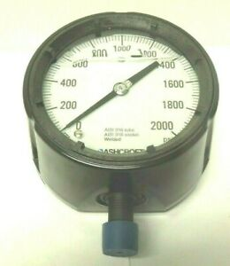 "Ashcroft 1279 Pressure Gauge 4-1/2"" 0-2000 PSI 1/2"" Phenolic Case Filled <427J3"