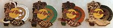 Hard Rock Cafe HOUSTON 1994-1996 Set 4 RODEO Boot PIN LOT Collection BOOTS New!