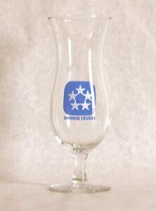 Admiral Cruises Cruise Lines Barware Souvenir Hurricane Glass