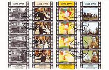SAN MARINO francobolli usati 1995 Iin foglietto CINEMA 1993 ANNULLO FDC