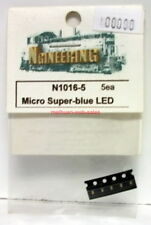 Ngineering~#N1016-5~Micro Super-blue LED~5 Pieces~2.8VDC,20Ma~NOS