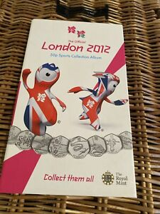Complete 2012 London Olympic 50p In Official Folder With Medallion
