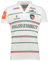 Leicester Tigers Kukri Kids 2017-18 Rugby Away Shirt - White - New
