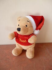Winnie The Pooh - Winnie l'Ourson - NOEL - Peluche Disney Store - 15 cm
