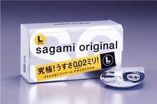 Sagami Original 002 L size condom 12 pieces Ultra Thin 0.02mm Non Latex Japan FS