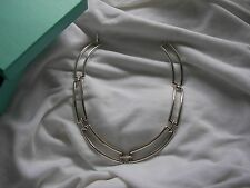 TIFFANY & CO. STERLING SILVER RECTANGLE LINK NECKLACE!!!