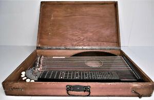 Zither Zitter Akkordzither Zupfinstrument Instrument Deko 50er 60er Rar Bastler