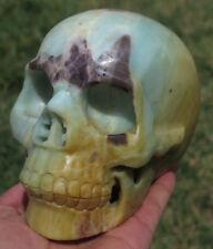 136mm Natural Chinese AMAZONITE Crystal Healing SKULL