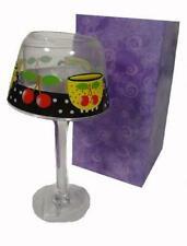 Mary Engelbreit Cherry Cherries Glass Votive Candle Holder