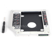 "Second HDD Caddy SATA 2.5"" 9.5mm HDD SSD Enclosure For Apple Macbook DVD CD ROM"