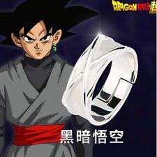 Super Dragon Ball Z Black Son Goku Gokou Time New Silver Finger Ring【IN STOCK】