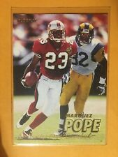 1997 Fleer 49ers Marquez Pope Football Card #239