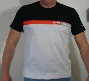 Genuine Aprilia Apparel Racing Team T-Shirt Apparel Black/White M B043387 wTag