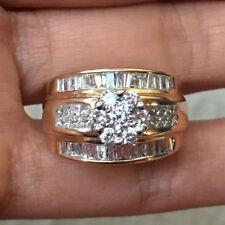 1.5Carat Natural Princess Round Diamond 14k Gold Engagment Anniversary Ring