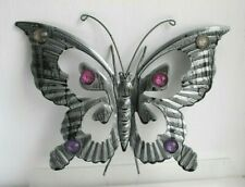 Metal Butterfly Garden Wall Art   30 x 23 cm