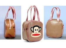Authentic Paul Frank Pink Plaid Julius Bowler Square Dome Satchel Bag (NEW)