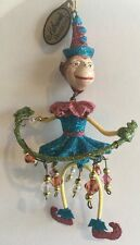 Katherine's Collection Retired Circus Monkey Ornament Blue NOS