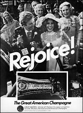 1977 Wedding party Great Western champagne bride vintage photo print ad ads37