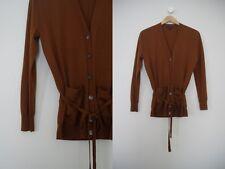 J. Crew Chocolate Brown Soft Merino Wool Oversized Belted Sweater Cardigan XXS