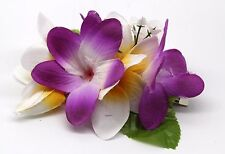 Hawaii Hair Clip Lei Party Luau Plumeria Flower Dance Beach Photo Purple White