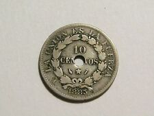 Bolivia 1883-A 10 Centavos Coin