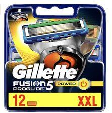 Gillette Fusion Proglide Power 12 Lame Di Ricambio. Prodotto Nuovo E Sigillato.