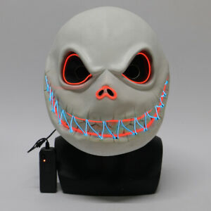 Halloween Jack Skellington Skull Luminous Mask Nightmare Before Christmas Mask