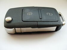 Replacement 2 button flip key case for VW Volkswagen Golf Bora Sharan remote fob