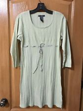 Liz Claiborne Light Green 3/4 Sleeve Nightgown, Size S, Super Cute!